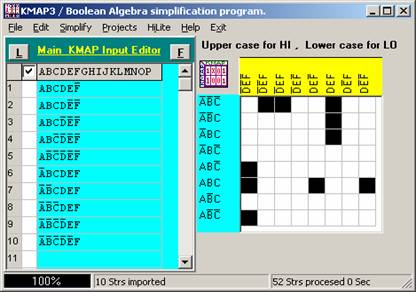 Advanced Boolean Calculator/Karnaugh Map simplifier